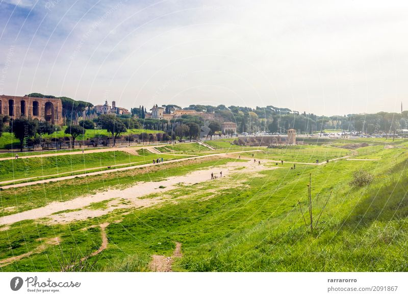 Circus Maximus in Rome Environment Nature Landscape Plant Small Town Tourist Attraction Landmark Monument circus maximus Old Virtuous Happy Fear of death