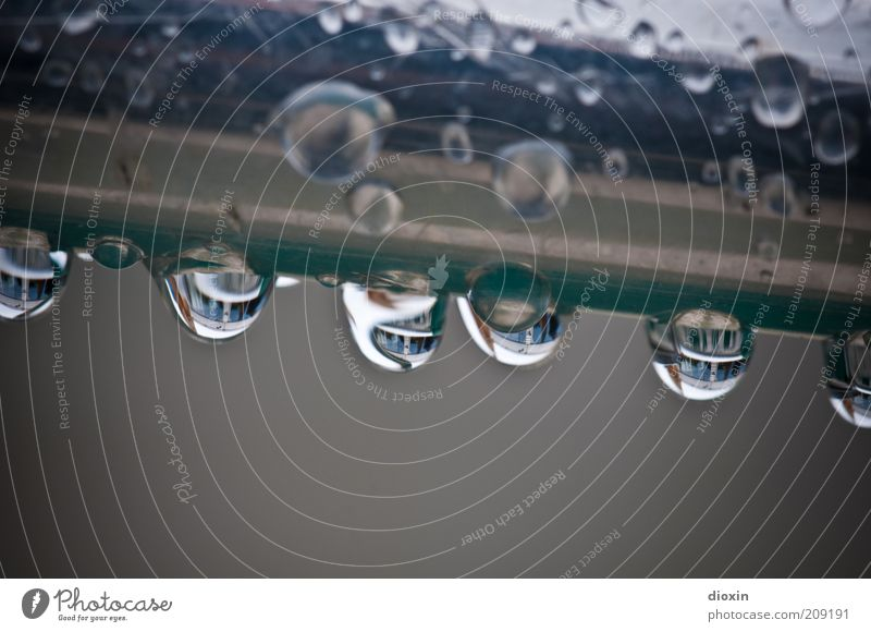Water Summer Cold Gray Rain Glittering Weather Wet Drops of water Climate Hang Slice Pane Bad weather High-grade steel