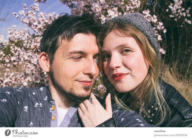 Young couple having a great day together Lifestyle Wellness Well-being Human being Masculine Feminine Young woman Youth (Young adults) Young man Friendship