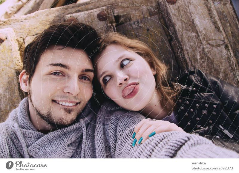 Young couple having fun together Lifestyle Human being Masculine Feminine Young woman Youth (Young adults) Young man Friendship Couple Partner 2 18 - 30 years