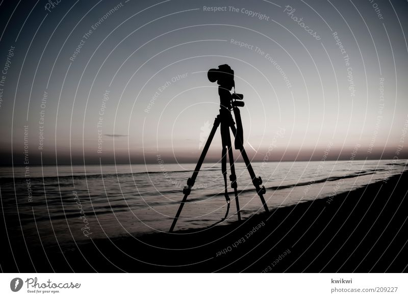 and it never gets boring. Camera Nature Landscape Sand Air Water Sky Horizon Sunrise Sunset Summer Waves Coast Beach Baltic Sea Ocean Tripod Observe Relaxation