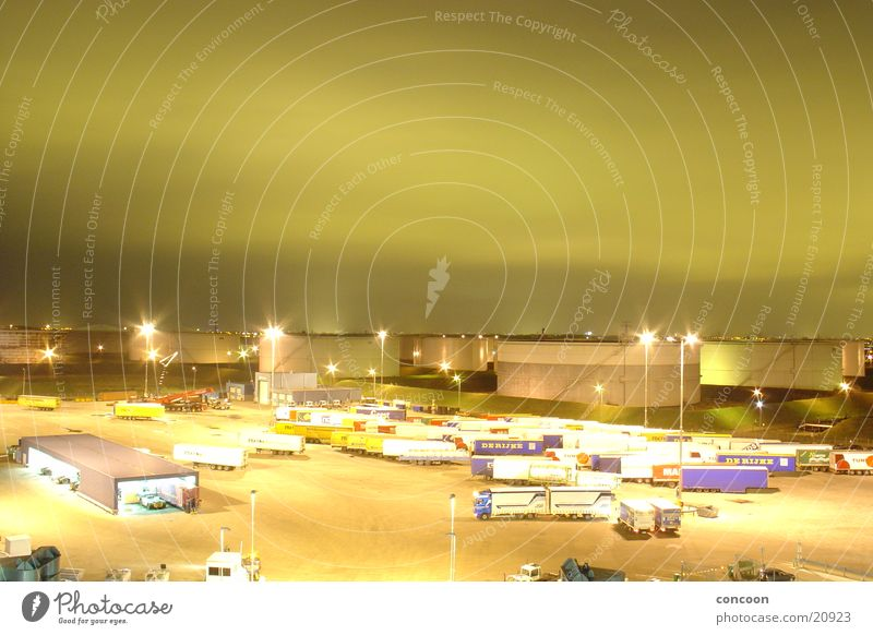 Rotterdam Europort Toys Truck Clouds Green Navigation Harbour Green sky sky spot Sky