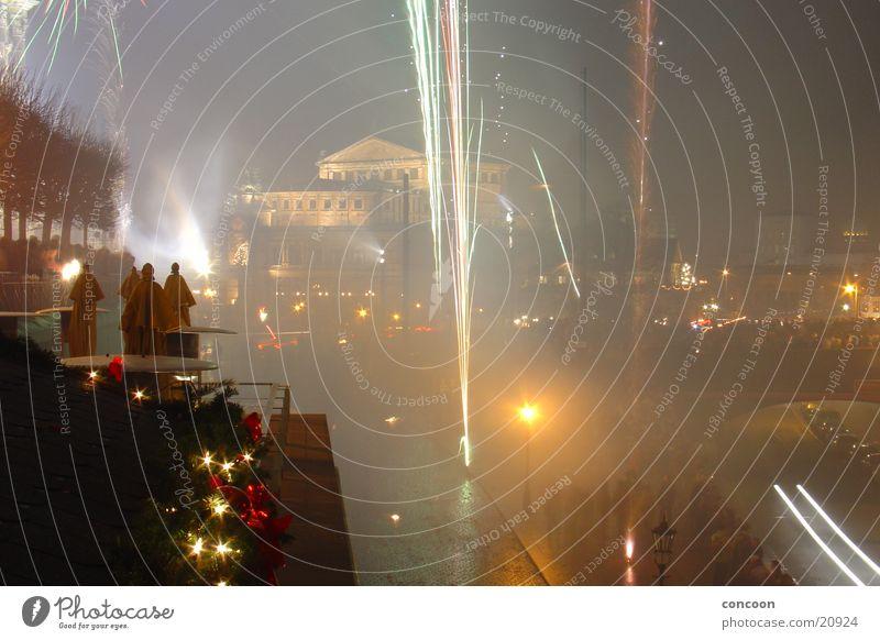 New Year's Eve Dresden Firecracker Saxony Semper Opera