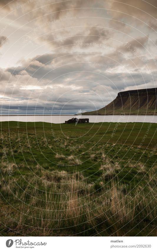 Sky Nature Landscape Ocean Clouds Mountain Sadness Spring Meadow Coast Grass Rock Horizon Weather Wind Iceland
