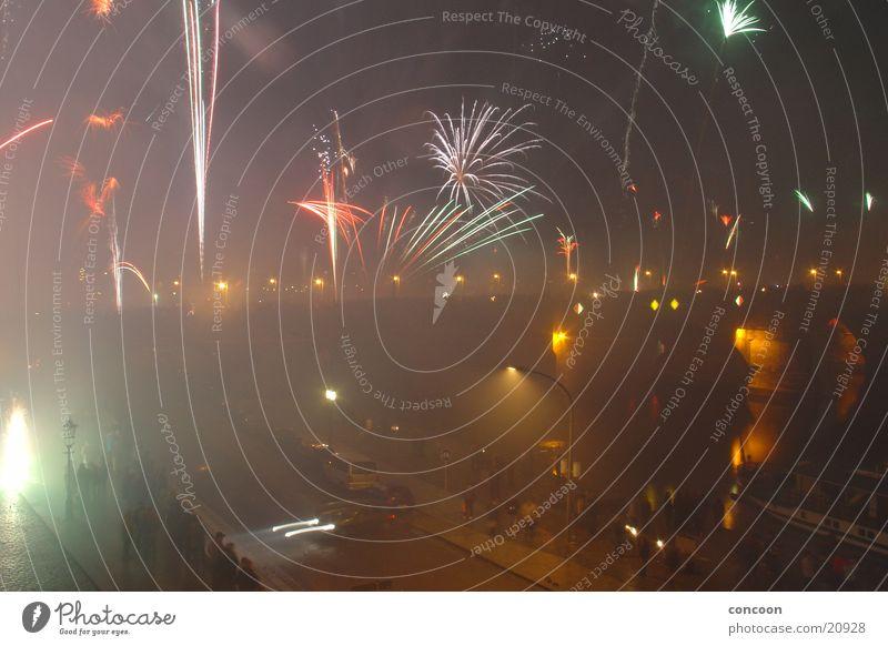New Year's Eve Dresden Firecracker Saxony Augustusbrücke