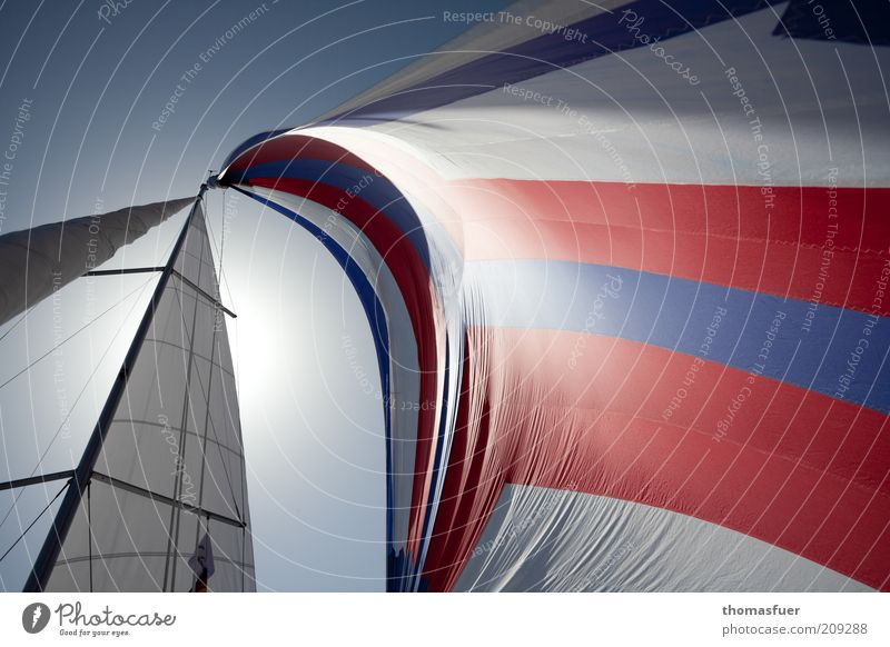 Water White Ocean Blue Red Joy Vacation & Travel Warmth Air Wind Elegant Speed Esthetic Leisure and hobbies Sailing Navigation