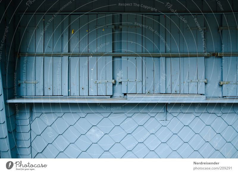 Blue Vacation & Travel Window Wood Trip Closed Perspective Gloomy Gastronomy Services Trade Hideous Stagnating Independence Kiosk Hatch
