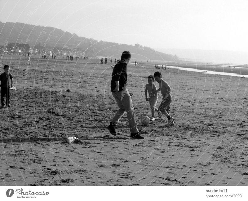 North Sea, beach, football game Beach Child Human being Soccer
