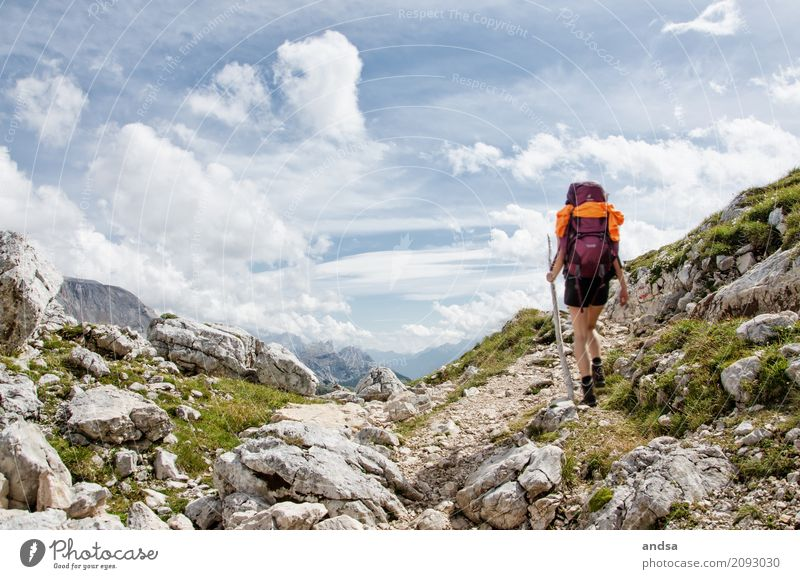 Italy - Dolomites Vacation & Travel Tourism Trip Adventure Far-off places Freedom Expedition Camping Summer Summer vacation Mountain Hiking Feminine Young woman