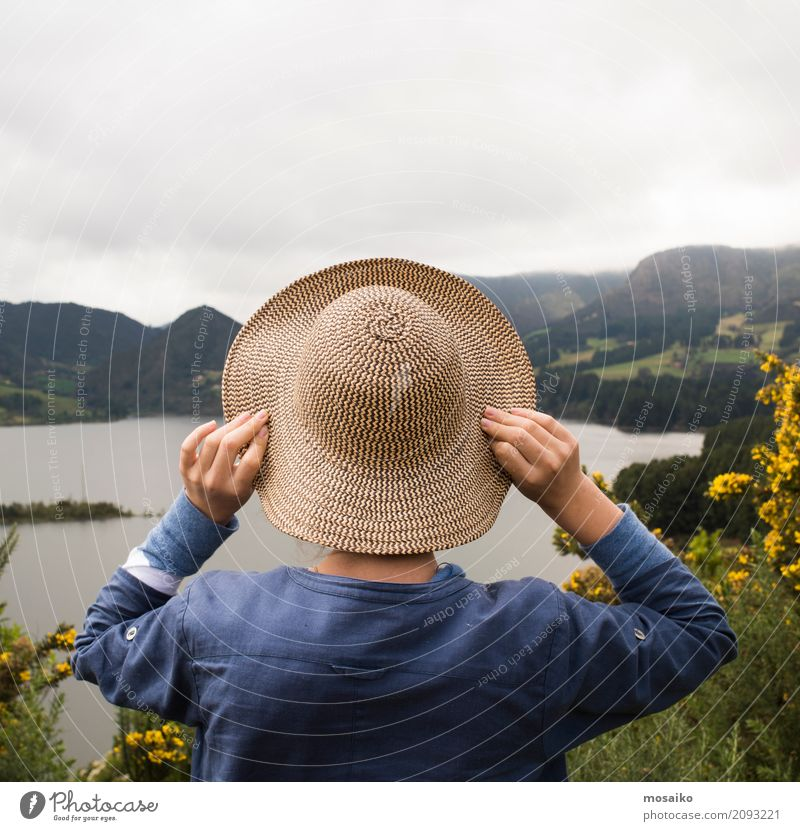 Human being Vacation & Travel Youth (Young adults) Summer Beautiful Relaxation Calm Far-off places Mountain Lifestyle Healthy Feminine Style Tourism Freedom