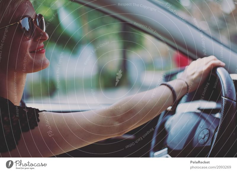 #A# Drive Art Esthetic Woman Motoring Driving Steering Transport Traffic infrastructure Means of transport Traffic jam Road safety Arm Driver Driver's license