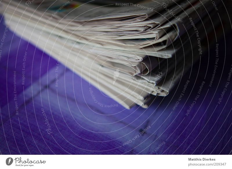 newspapers Media industry Paper Collection Old New Retro Gray White Stack Heap Waste paper Accumulation Collector Newspaper Close-up Detail
