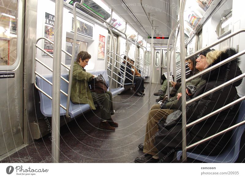 NYC Metro Underground Home Train travel New York City Transport on the way home Wait sit around USA Photos of everyday life