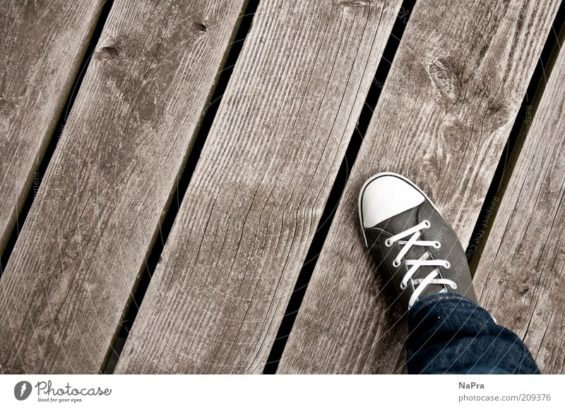 Human being Wood Gray Legs Fashion Feet Line Footwear Stripe Jeans Individual Pants Footbridge Sneakers Chucks Leather