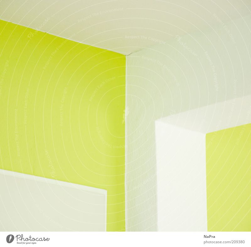 White Green Colour Wall (building) Style Above Wall (barrier) Line Room Architecture Flat (apartment) Door Design Empty Fresh
