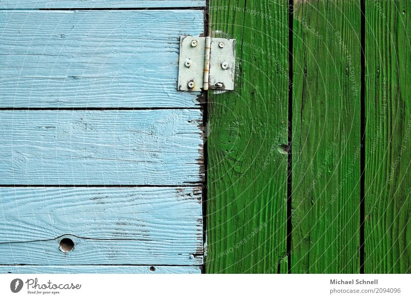 Hinge and hiwood paints on an arbour hut Gardenhouse door Metal Authentic Simple natural Blue green Sympathy Together Attachment Competition Difference