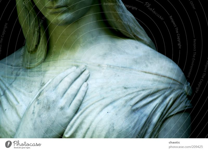 hold me Head Mouth Lips Chest Hand Fingers Sculpture Dress Long-haired Stone Angel Observe Touch Think To hold on Stand Dream Authentic Simple Firm Natural