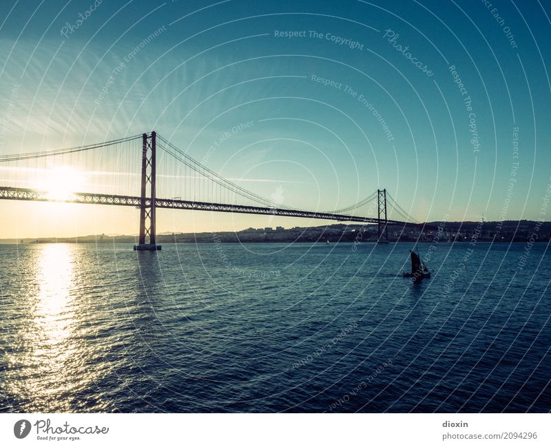 Tejo [3] Vacation & Travel Tourism Far-off places Sightseeing City trip Summer Summer vacation Waves Environment Nature Landscape Water Sky Sunrise Sunset