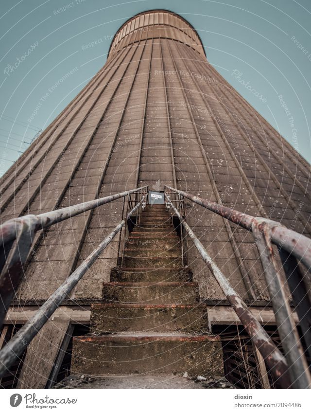 Old Town Architecture Stairs Energy industry Tall Tower Manmade structures Decline Gigantic Nuclear Power Plant Coal power station Cooling tower