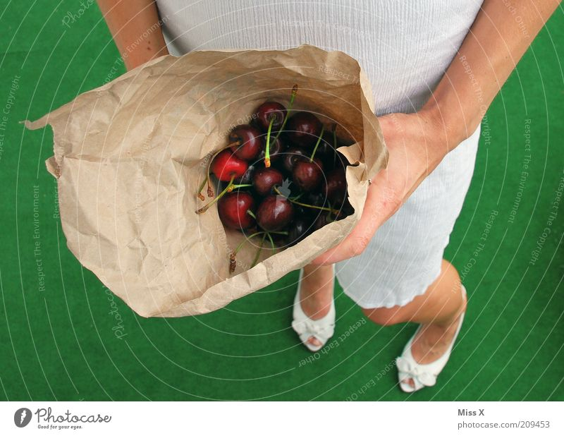 Human being Green Summer Feminine Nutrition Food Legs Footwear Fruit Large Sweet Delicious Organic produce Diet Young woman Paper bag