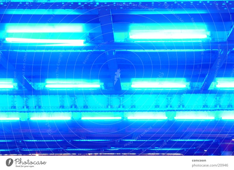Blue Lamp Steel England Iron Great Britain Neon blue