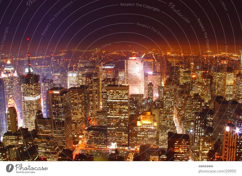 Lighting Architecture High-rise USA Vantage point Skyline Illuminate New York City Impressive Night shot & City Lighting High-rise - a Royalty Free Stock Photo from Photocase azcodes.com