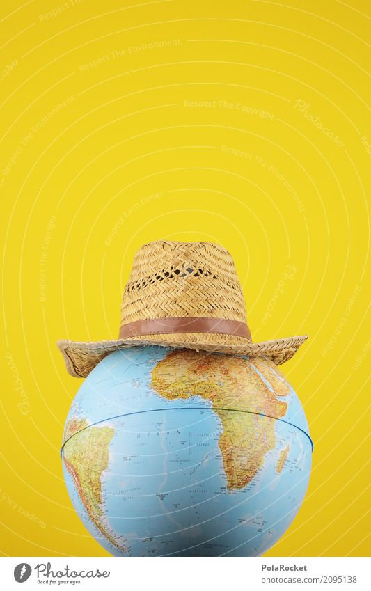 #AS# Indiana Art Work of art Esthetic Hat Hat rack Earth Globe Yellow Map of the World Around-the-world trip Cosmopolitan Adventure Film Hint