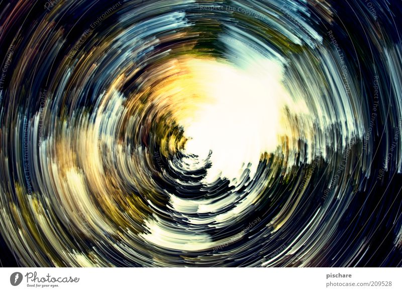 Art Circle Round Painting and drawing (object) Rotate Bizarre Chaos Blur Experimental Action Multicoloured