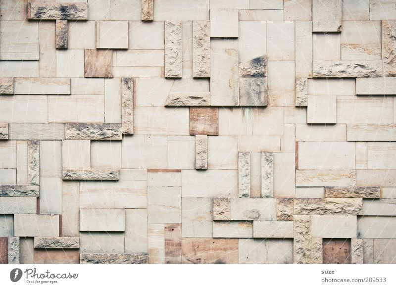 tetris Style Design Art Work of art Manmade structures Building Architecture Wall (barrier) Wall (building) Facade Stone Old Sharp-edged Simple Retro Decoration