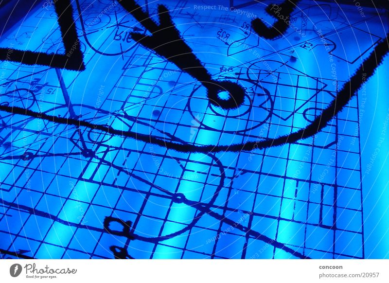 Electric Blue Geometry Physics Mathematics Style Architecture Lamp Digits and numbers Academic studies TU Ilmenau