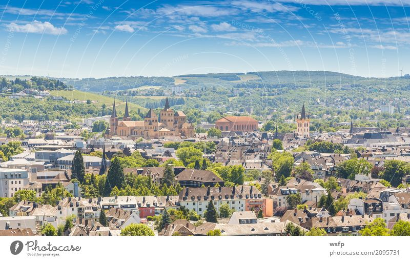 Panoramic view of Trier Rhineland Palatinate Germany Tourism Town Old town Dome Architecture Roof Historic panorama rhineland Rhineland-Palatinate