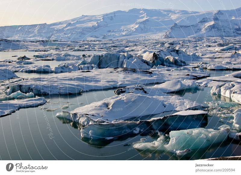 Nature Water Winter Freedom Landscape Environment Climate Natural Elements Iceland Glacier Climate change Expedition Melt Ice floe Aurora Borealis