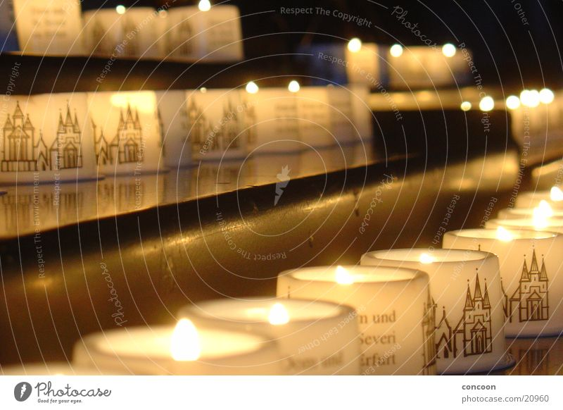 Calm Religion and faith Candle Leisure and hobbies Prayer Dome Cathedral Thuringia Erfurt