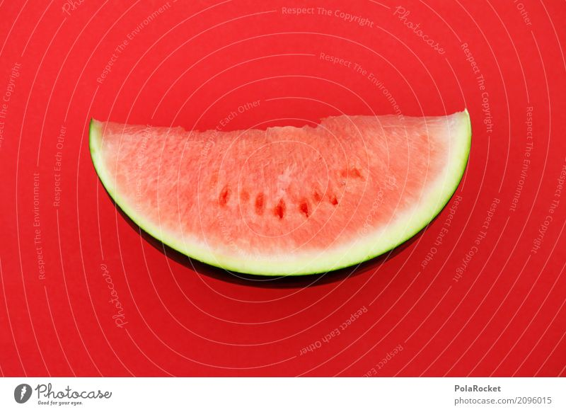 #AS# Melon red on red Art Work of art Esthetic Red Derby Melone slice Graphic 2D Delicious Healthy Eating Summer Summer vacation Summer's day Summery