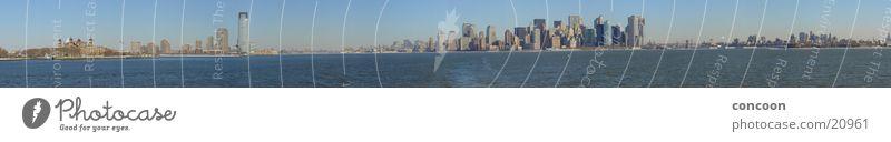 Large High-rise USA Vantage point Skyline New York City Manhattan Panorama (Format) North America