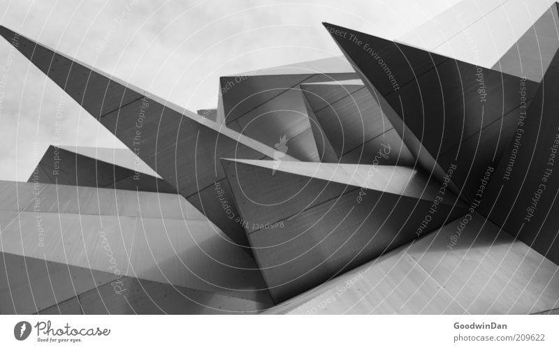 Dark Gray Building Moody Art Architecture Design Modern Authentic Threat Point Exceptional Manmade structures Upward Bizarre