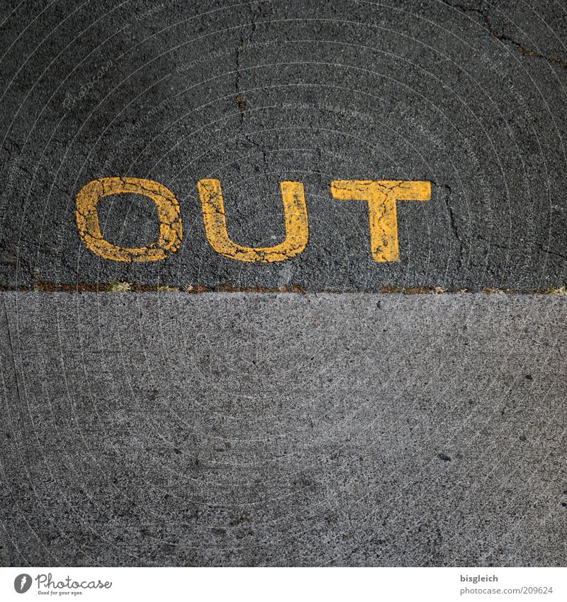 Yellow Street Gray Concrete Keyword Border Word Edge Decision Highway ramp (exit) English Loser Exclusion Cancelation Set free