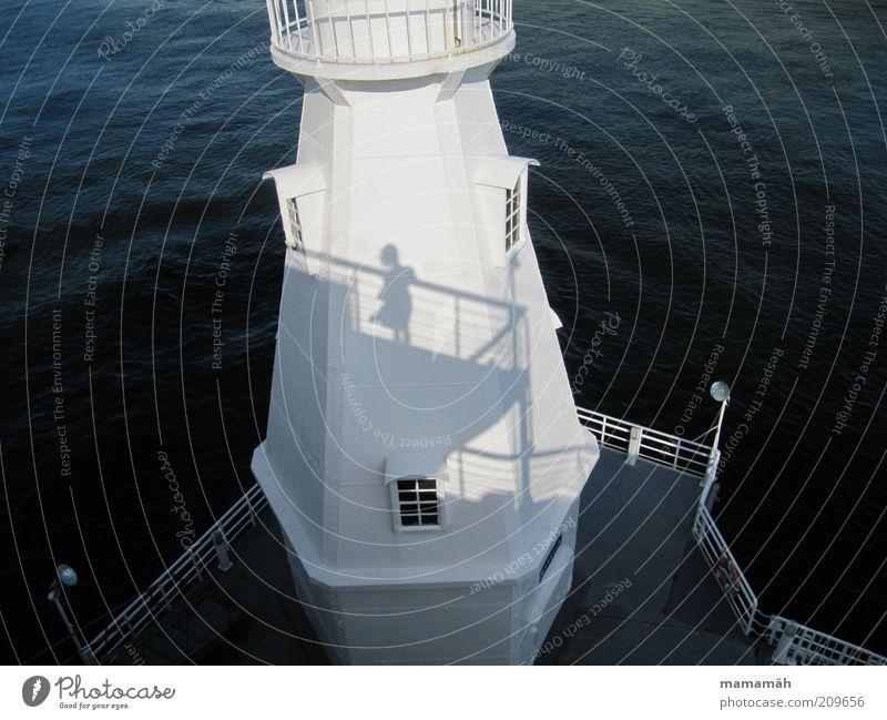 windswept Harbour Lighthouse Looking Stand Wait Wind Water White Blow Ocean Orientation Coast Window Railing Skirt Navigation Vantage point Shadow