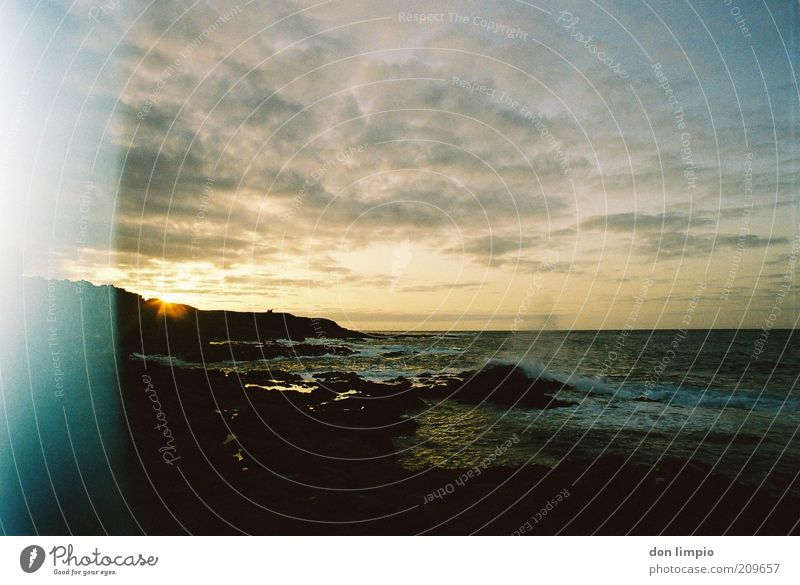 Sun Ocean Summer Far-off places Coast Waves Environment Horizon Trip Island Nature Surf Water Atlantic Ocean Fuerteventura Overexposure
