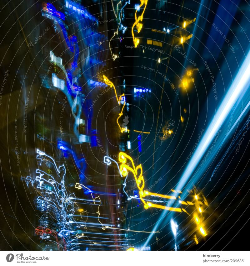 Dark Style Art Exceptional Design Speed Chaos Dynamics Visual spectacle Work of art Play of colours Tracer path Abstract Night Light streak Light art
