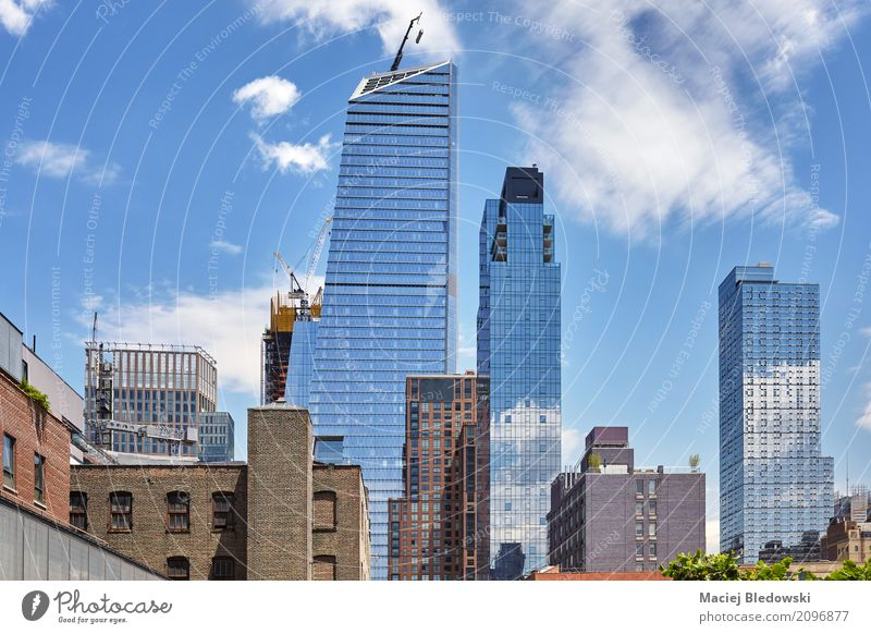 Midtown New York. Sky Summer Town Architecture Building Flat (apartment) Office High-rise USA Skyline Manhattan Development City