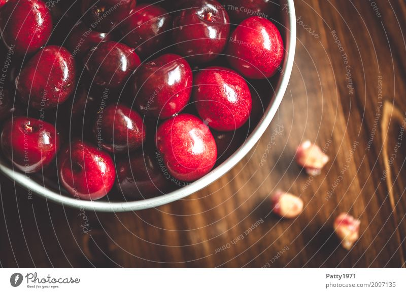 cherries Food Fruit Cherry Cherry pit Nutrition Organic produce Diet Fasting Bowl Fresh Healthy Delicious Juicy Red To enjoy Pure Quality Colour photo Close-up