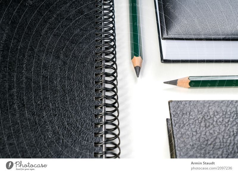 Right before left Lifestyle Style Design Office Business Esthetic Clean Success Idea Perspective Planning Pencil Loose-leaf Notebook Write Desk Workplace Book