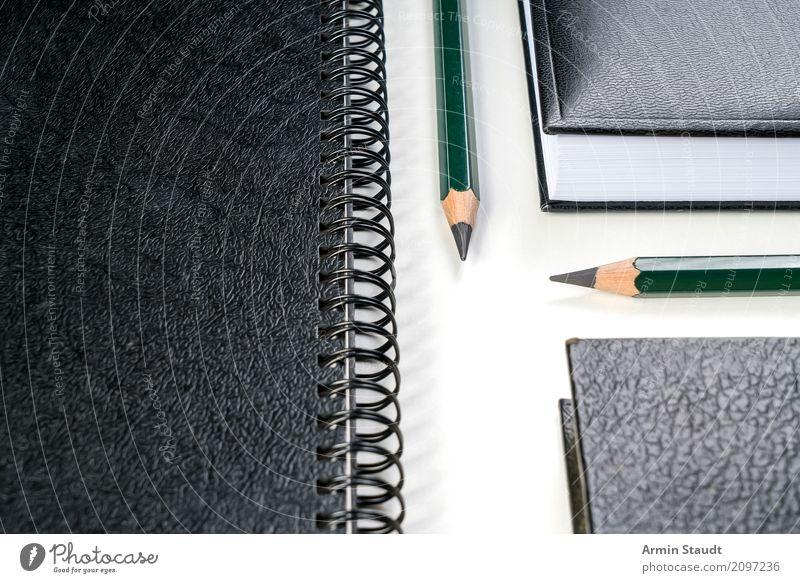 White Black Lifestyle Style Business Design Office Esthetic Arrangement Success Perspective Empty Book Idea Paper Planning