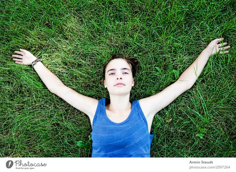 Human being Woman Youth (Young adults) Young woman Summer Beautiful Relaxation Calm Joy Adults Life Lifestyle Meadow Feminine Happy Moody