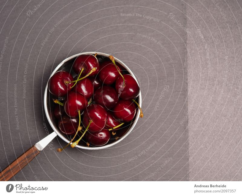 Sweet cherries Fruit Summer Delicious agriculture berry bowl cherry dark diet eating food fresh green group harvest healthy napkin organic raw red ripe rustic
