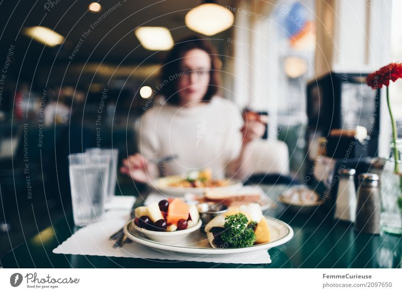 Human being Woman Vacation & Travel Youth (Young adults) Young woman Healthy Eating 18 - 30 years Dish Food photograph Adults Feminine Glass To enjoy Table