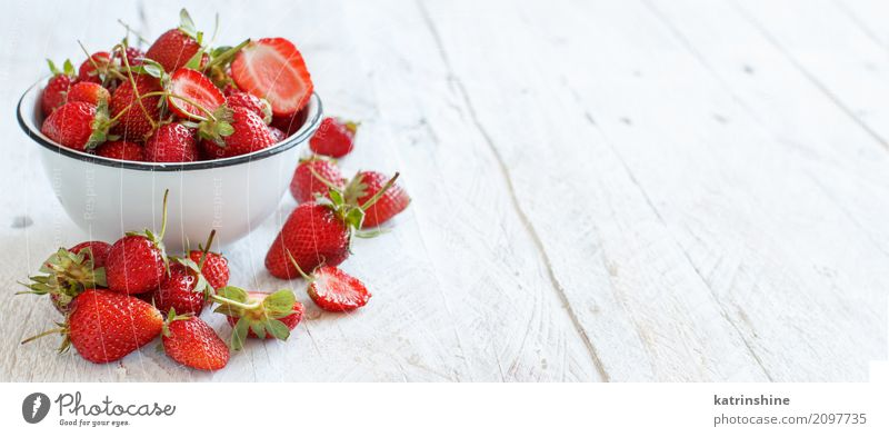Strawberries in a bowl on a white wooden table Fruit Dessert Diet Bowl Summer Table Wood Fresh Bright Delicious Natural Juicy Red White Colour Berries colorful