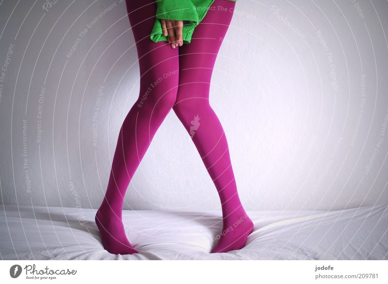 shy II Human being Feminine Young woman Youth (Young adults) Woman Adults Legs 1 18 - 30 years Green Pink Tights Timidity Knock-kneed Hand mask sb./sth. Hide