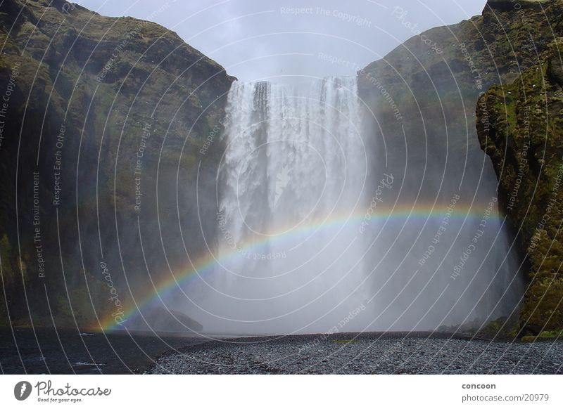 Somewhere over the rainbow in Iceland Rainbow Multicoloured Waterfall